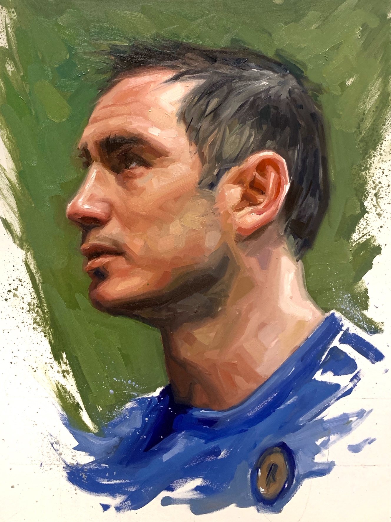 Frank Lampard Chelsea Oil Painting