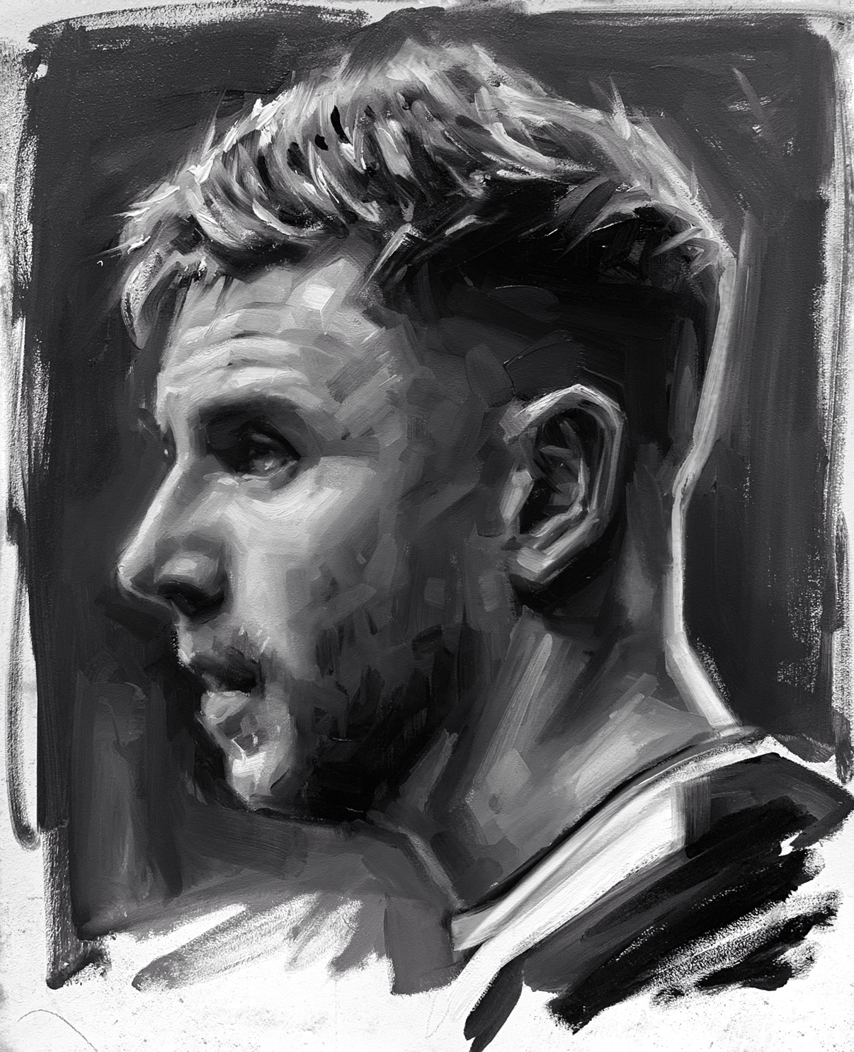 Paul Dummett Newcastle United Oil Painting