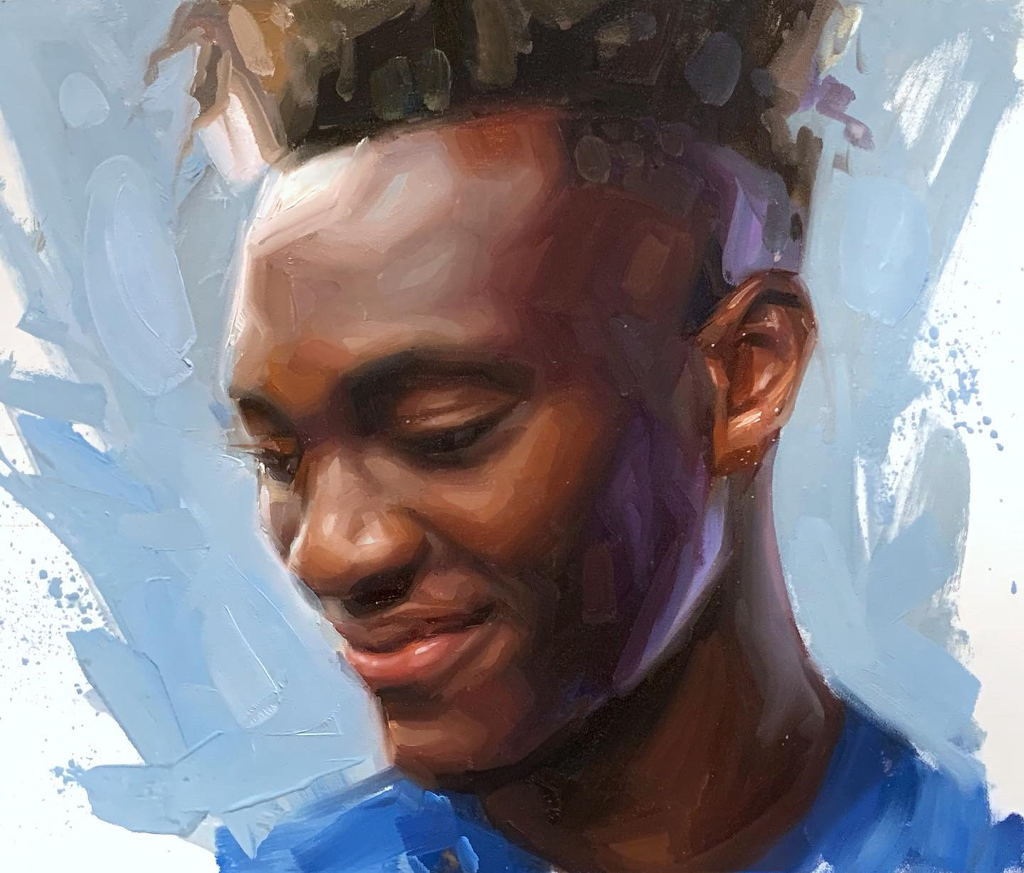 Tammy Abraham Chelsea Oil Painting