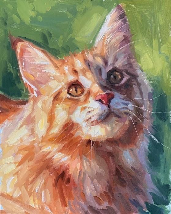 Cat Oil Painting Pet Portrait