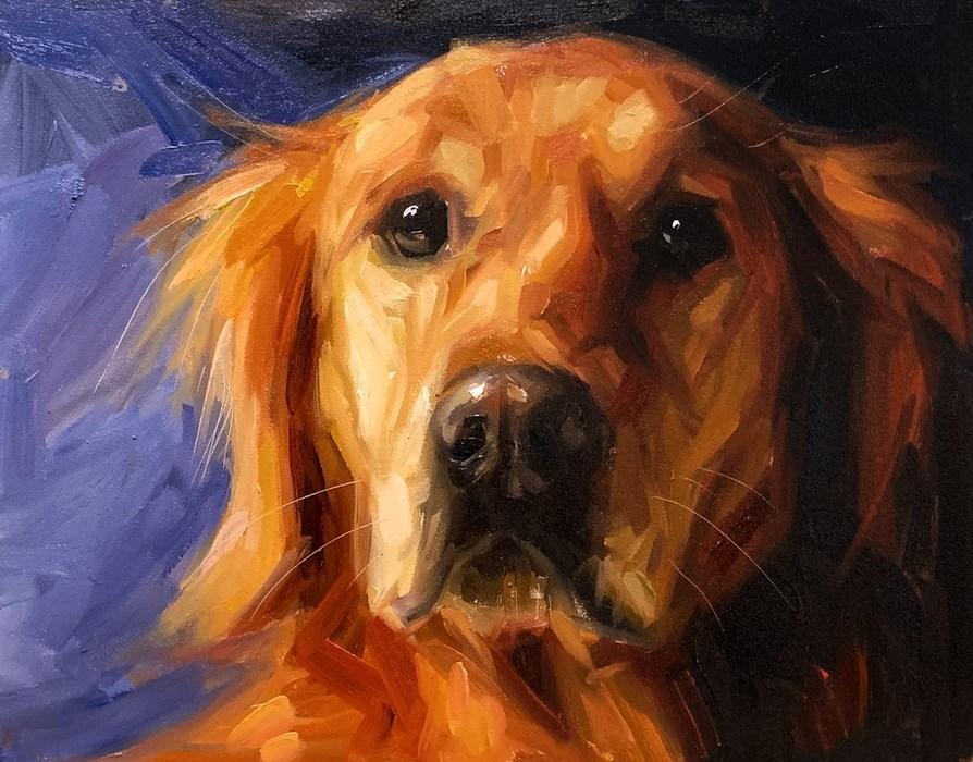 Retriever Oil Painting Pet Portrait