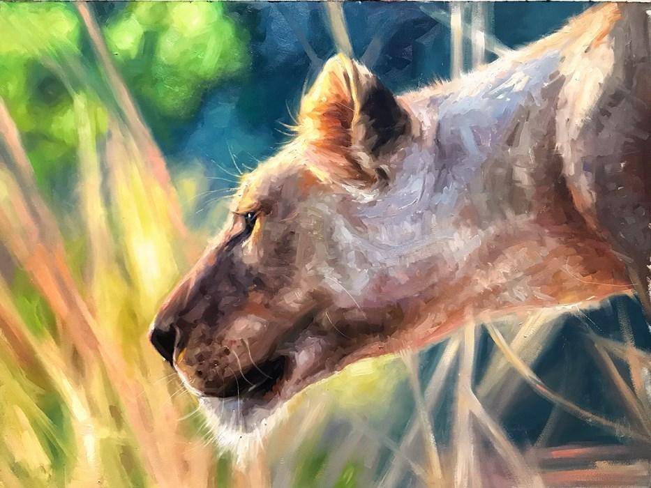 Lioness Oil Painting Pet Portrait