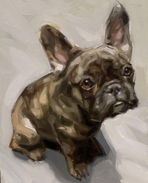 French Bulldog Oil Painting Pet Portrait