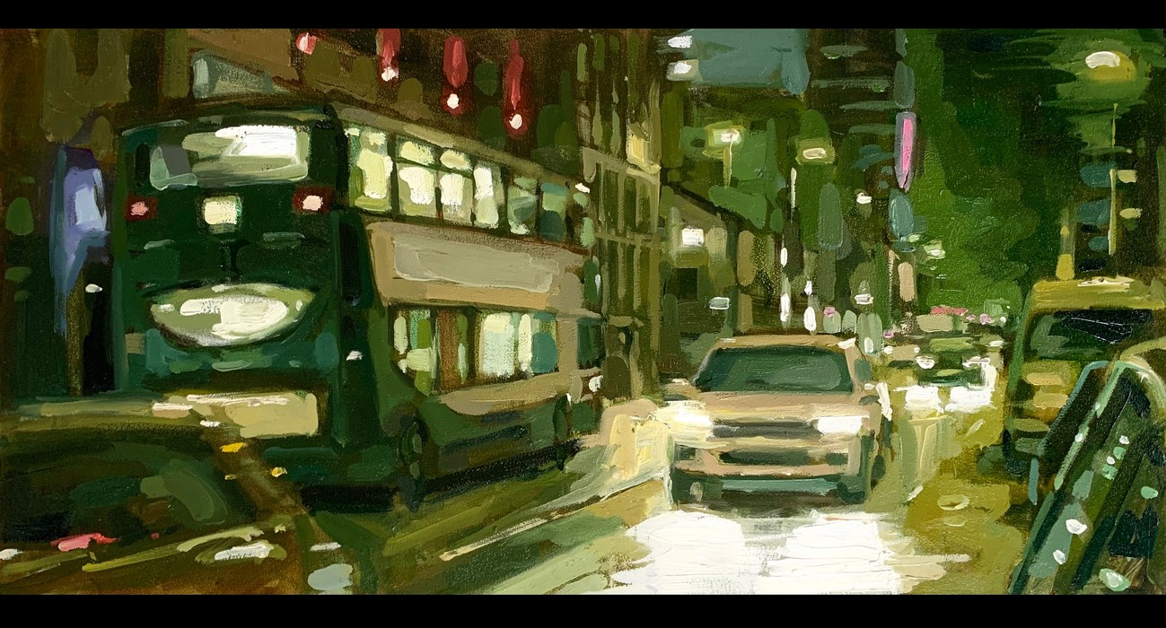 Manchester Deansgate Oil Painting