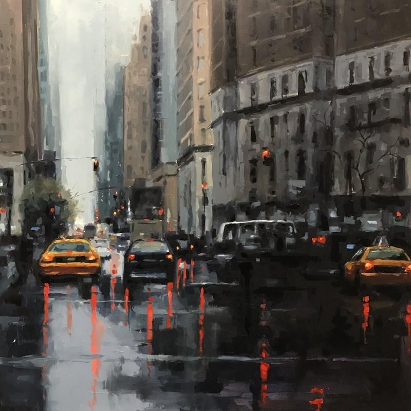 New York City Scene Oil painting