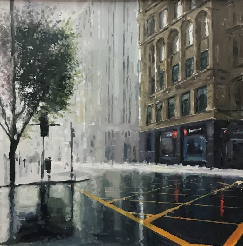 Deansgate Manchester Oil Painting Street Scene