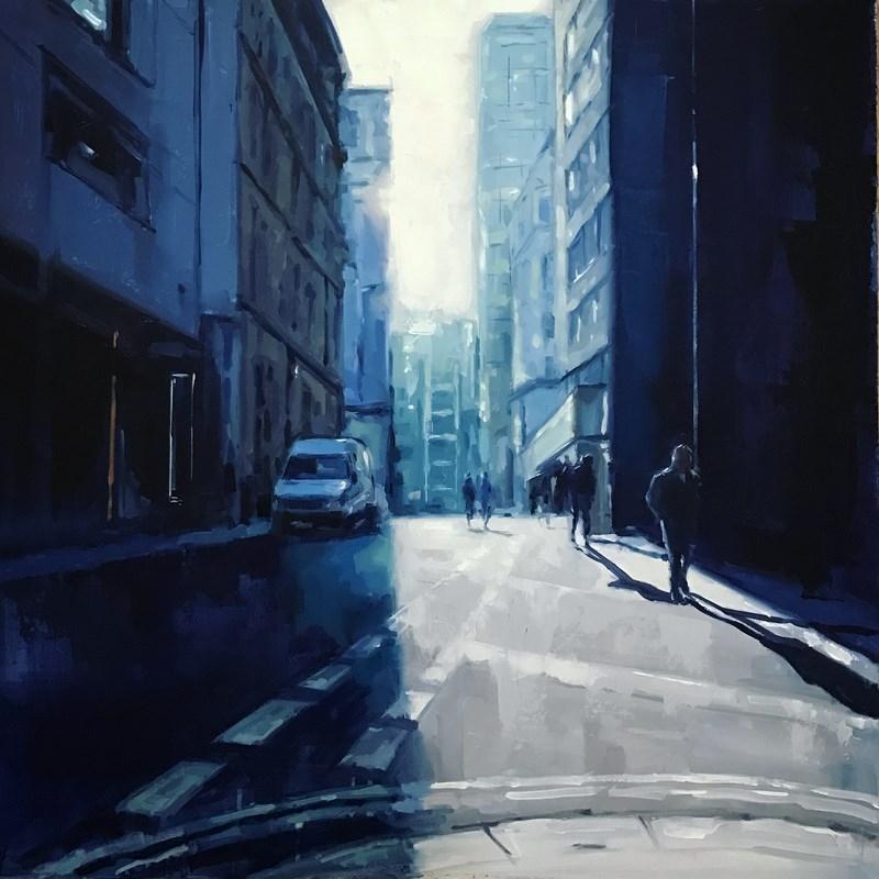 Manchester Street Scene Oil Painting
