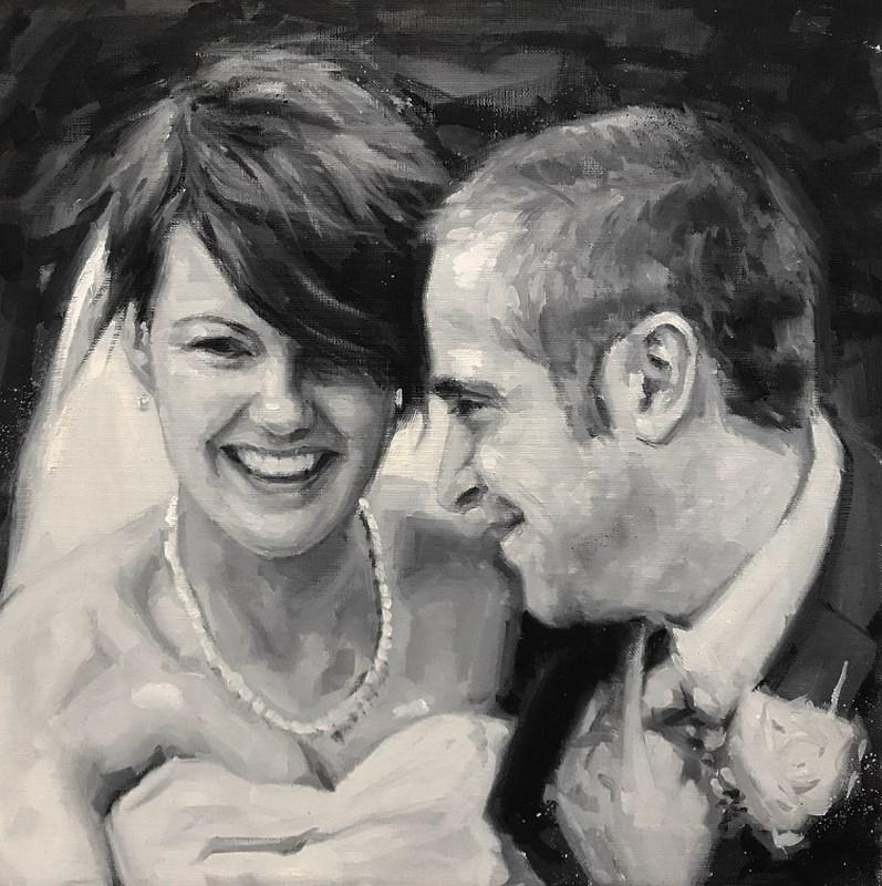 Live Wedding Event Portrait Oil Painting UK