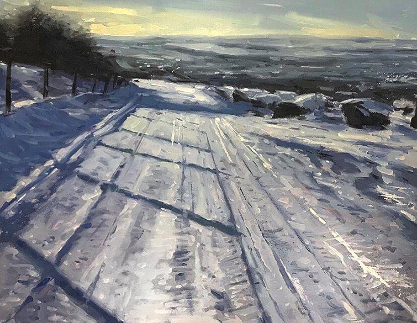 Rivington Belmont snow oil painting landscape