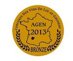 Baron de Lisse, Cabernet Sauvignon 2012 – Bronze    Concours Departemental des Vins de Lot-et Garonne 2013