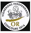 Baron de Lisse Merlot 2012 - Or    Concours Vignerons Indépendants 2016