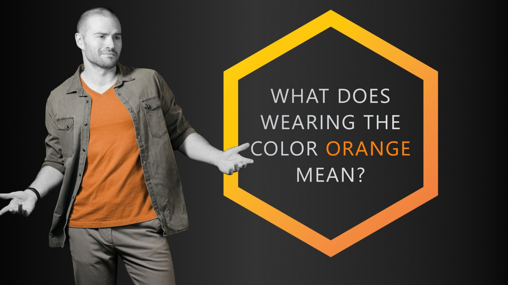 Orange what sign mean does an What does