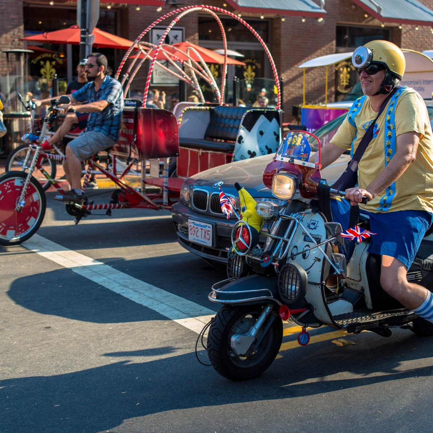 If you're planning a special event, - why not hire VIP Pedicabs to provide the transportation? We can pick up attendees at any location and deliver them to the destination of your choosing. This is the safe, environmentally friendly way to get around town and we can provide an amazing advertising campaign for your event at the same time.