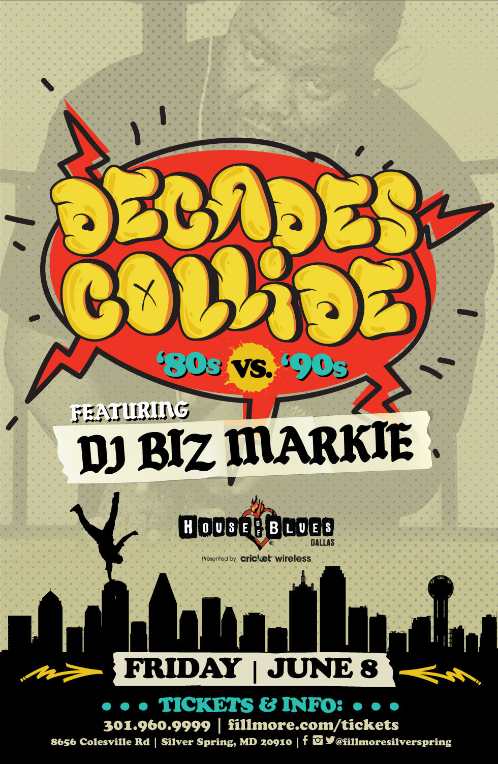 Live Nation Clubs & Theaters - Decades Collide - Biz Markie Tent Pole Event