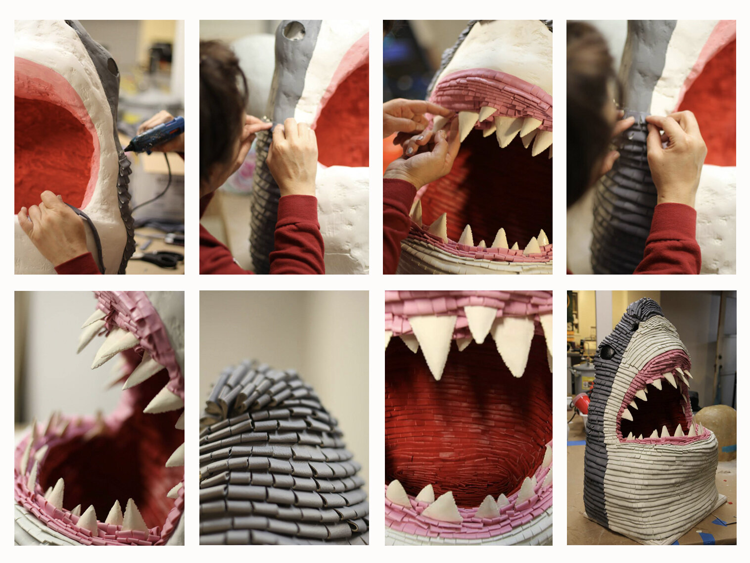 JAWS - TRIBUTE SHOW - Faux leather piñata for Hero Complex Gallery