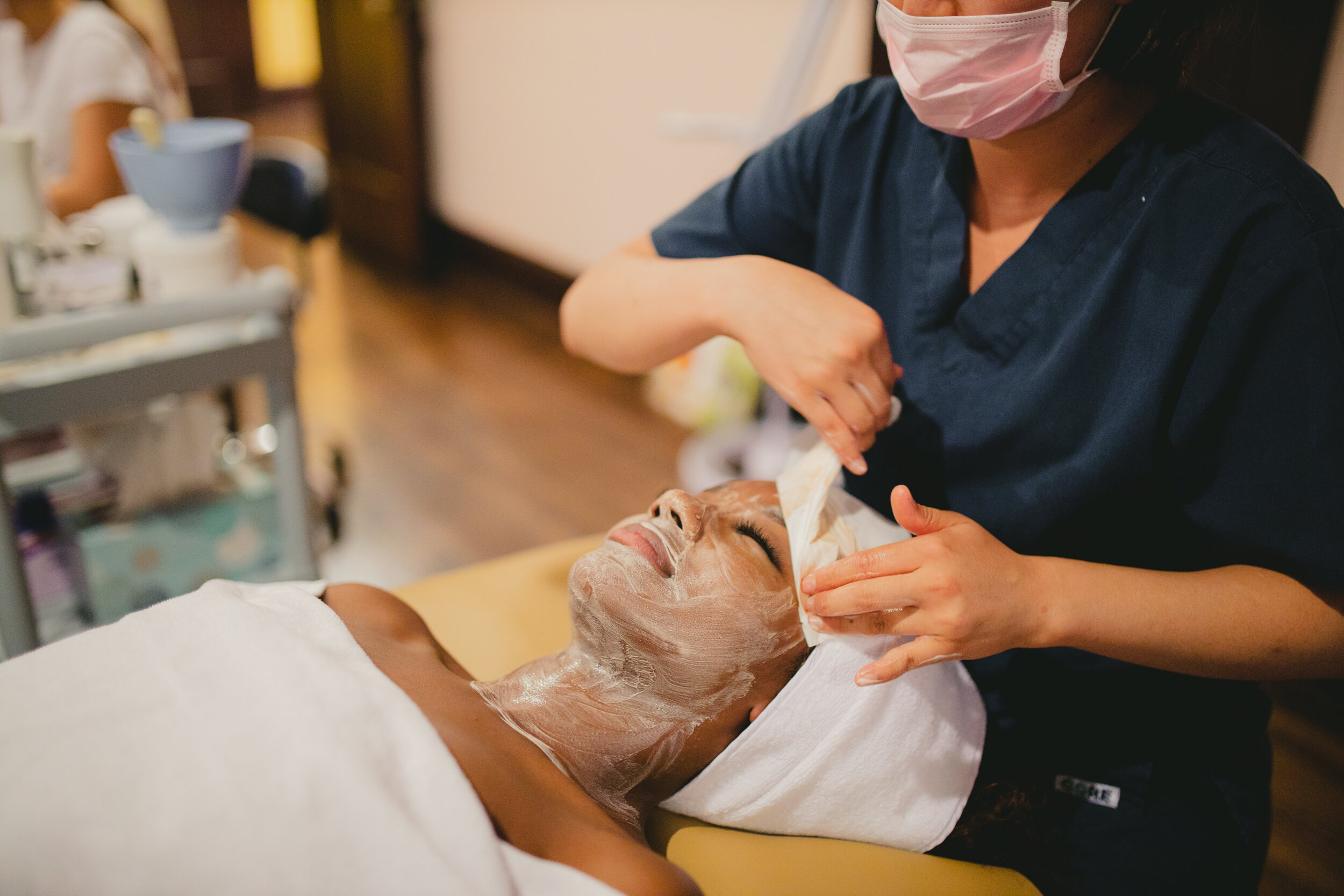 """Betina G.October 2019 (Yelp) - """"I am LOVING this place. I am one year into living here in LA, and I have been at least 6 times in the past 6 months. I am a skincare snob, and I get massages at least 1x a week. It's my go to for a refresher for my skin PLUS a great massage. The pricing is great for the service, it's unreal! I get so many compliments on my skin, too! Thank you, LA Eve Skin ladies for giving me the best glow, relaxation, and service every time I come in!"""""""