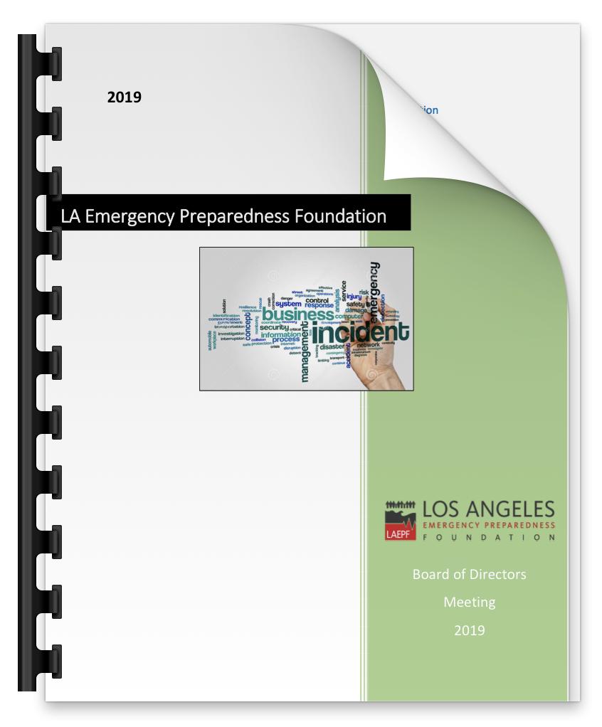 2019 LAEPF Board of Directors Meeting Report - LAEPF, 2019