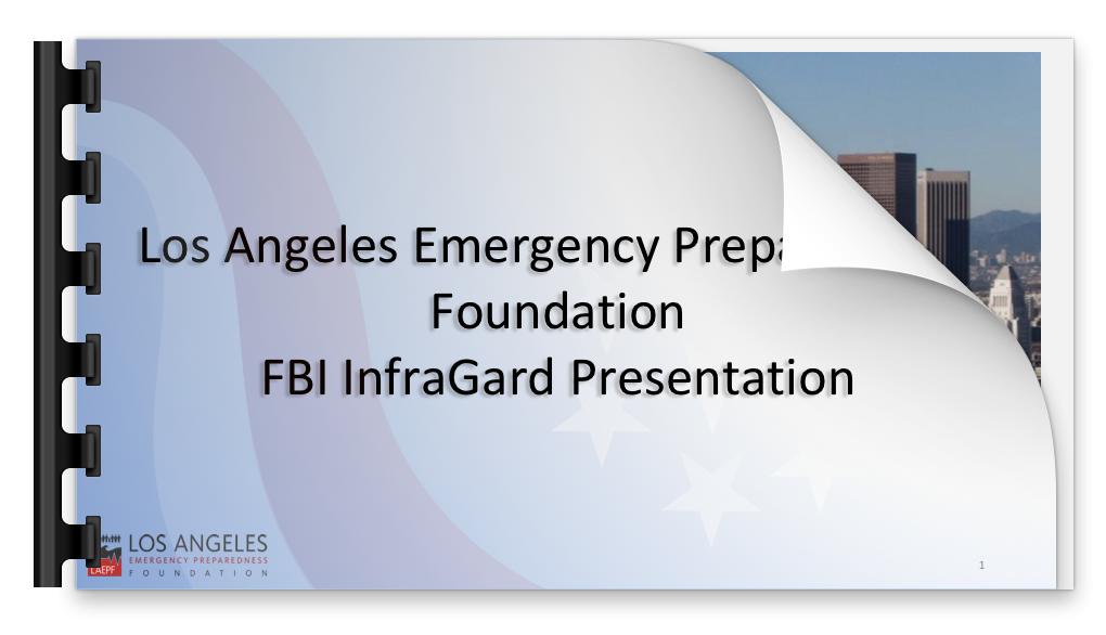 LAEPF San Bernardino Response Presentation - LAEPF, August 2016