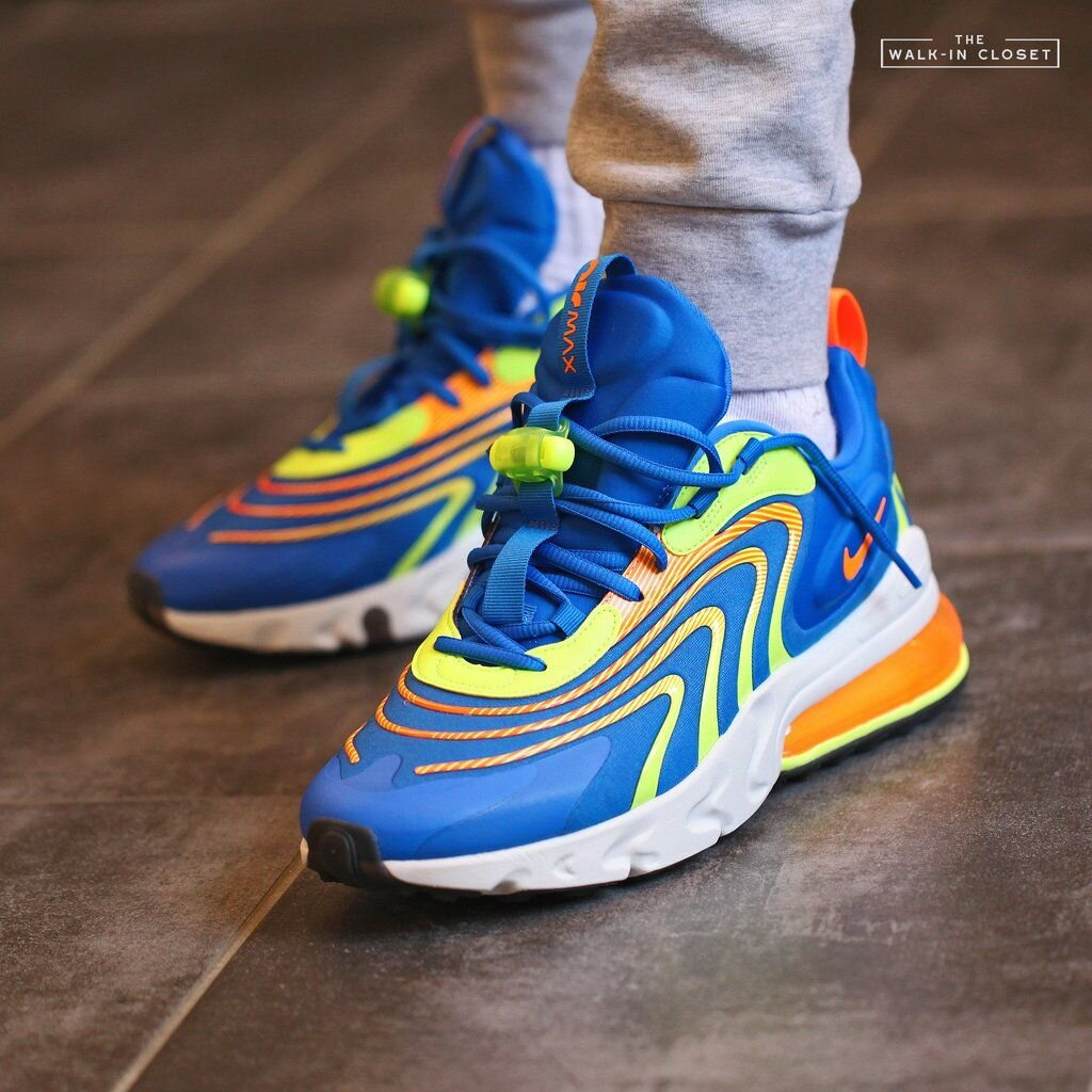 The Nike Air Max 270 React Eng Volt Blue Is On Sale For 96