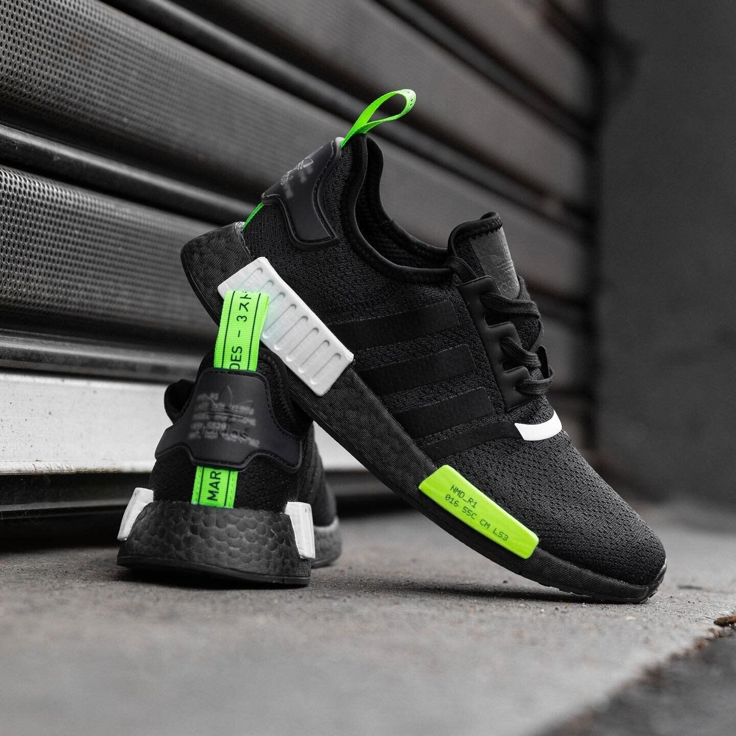 The Adidas Nmd R1 Black Green Is On Sale For 66 Kicks Under Cost