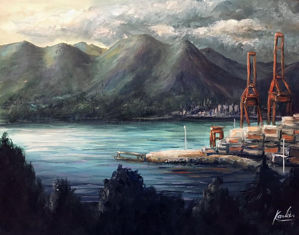 Gastown Views: acrylic paint on canvas
