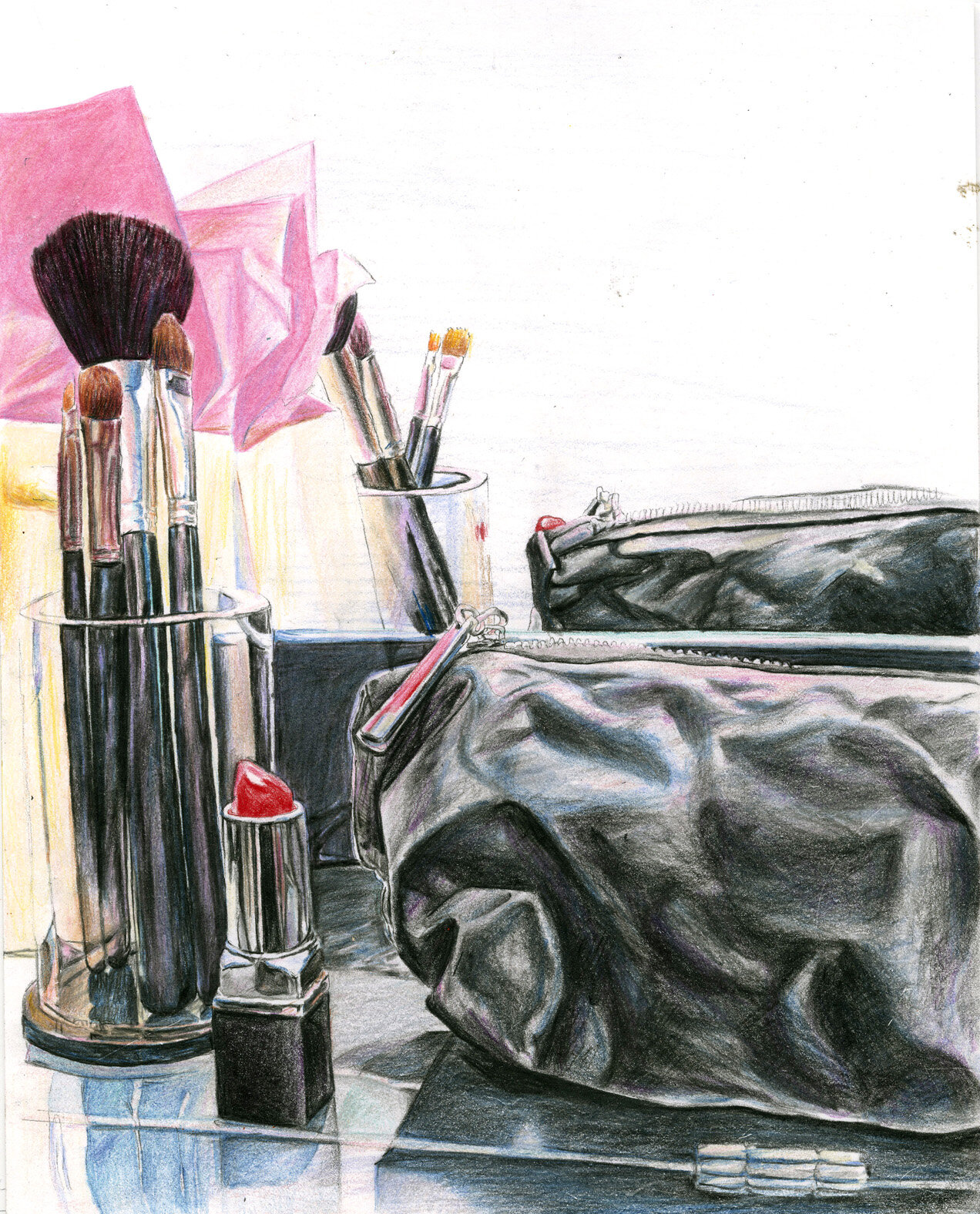 Beauty Bar: coloured pencils on smooth watercolour paper