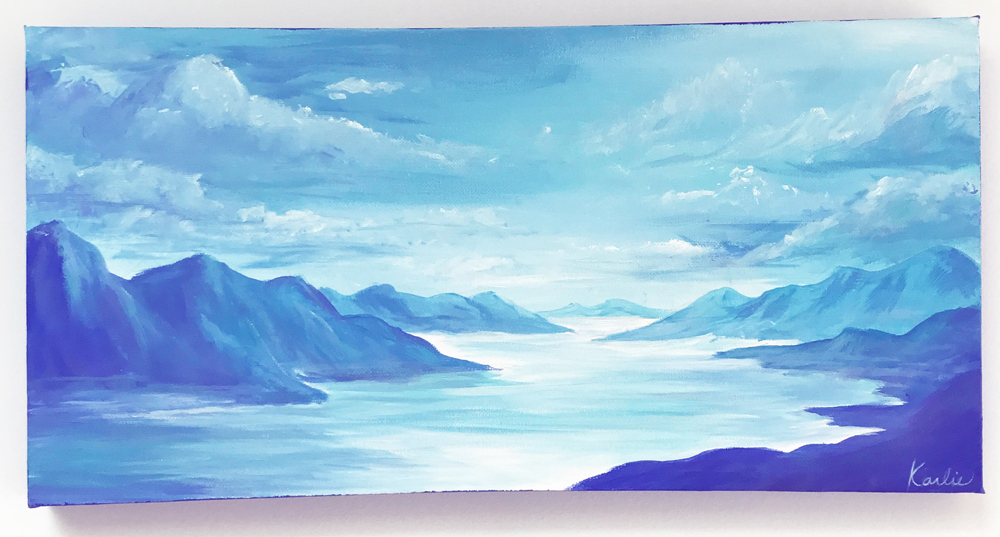 Blue Views: acrylic paint on canvas