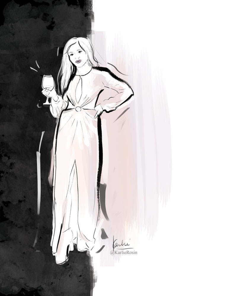 Fashion Illustration: mixed media | Diner en Blanc Chicago Street Fashion