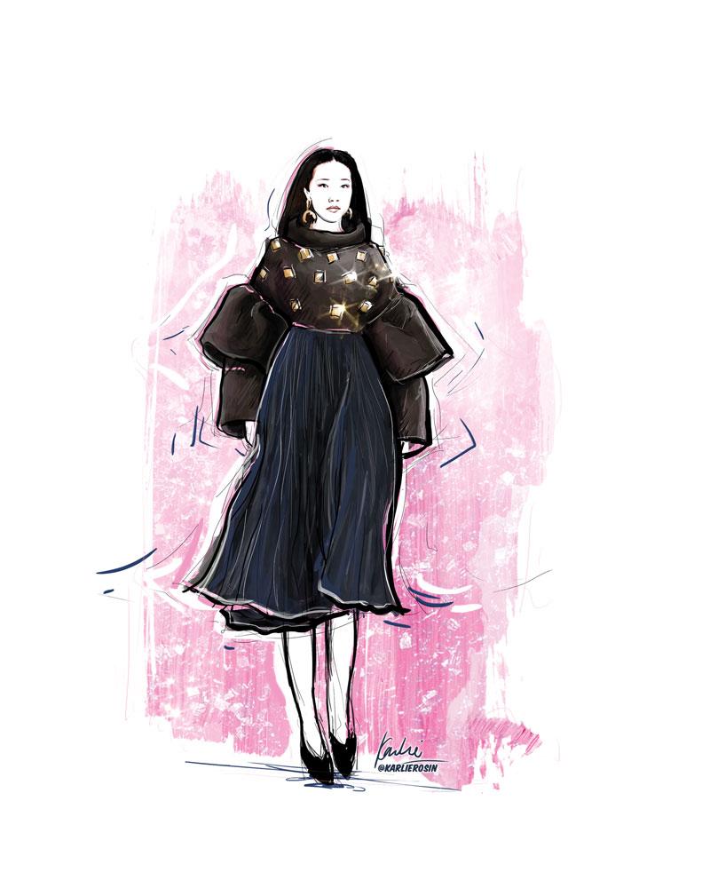 Fashion Illustration: mixed media | Vancouver Fashion Week Partnership