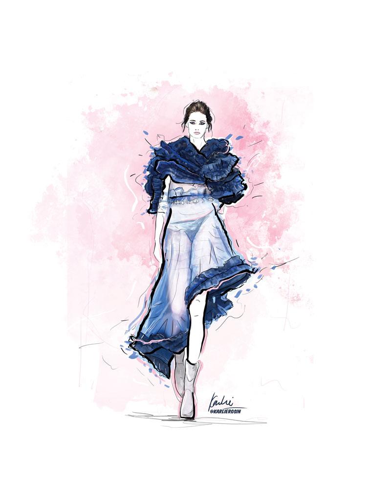 Fashion Illustration: mixed media | Partnership with Vancouver Fashion Week