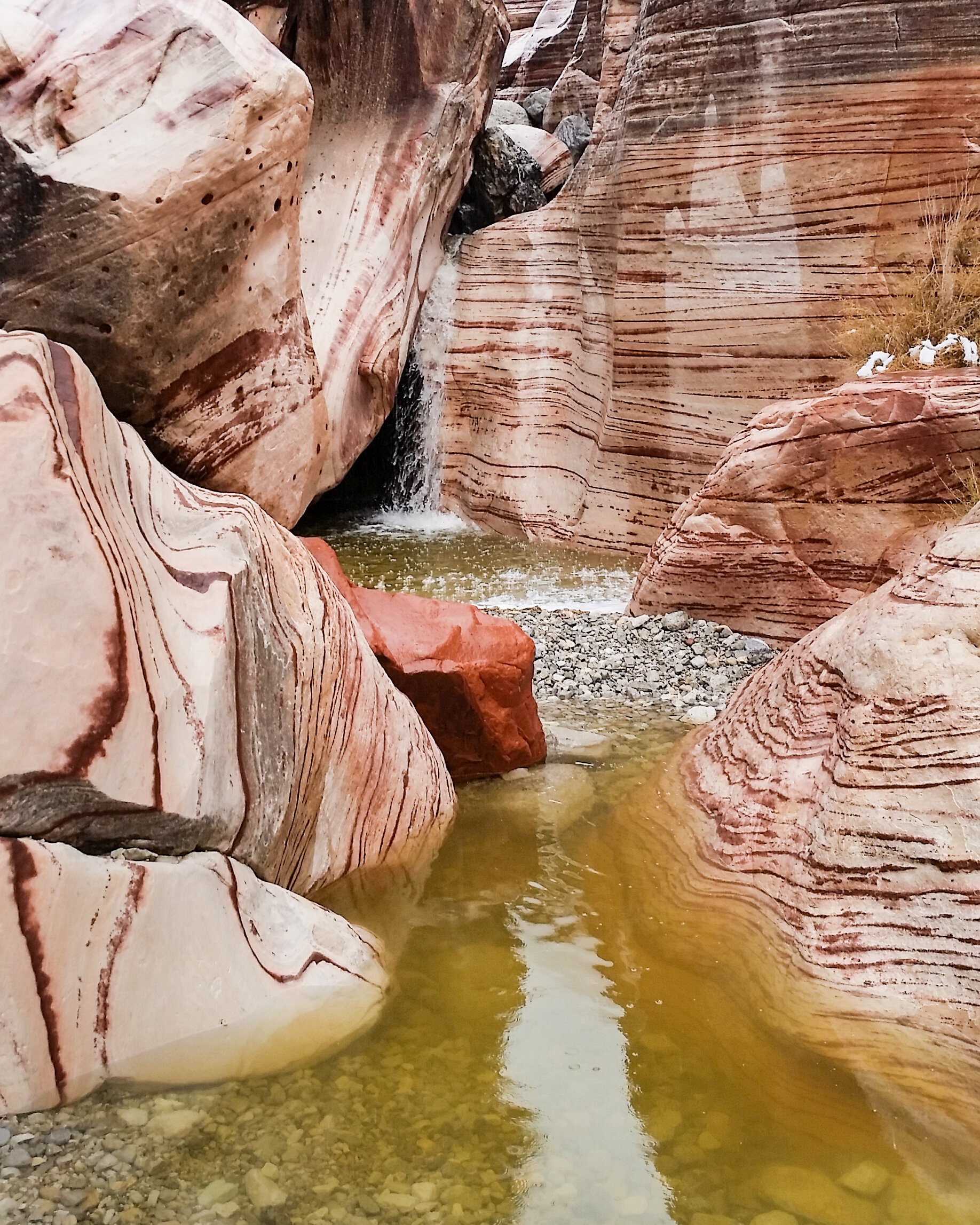 Wet sandstone should not be climbed on.Its challenging to know when it's dry as temperature, amount of rain, and amount of sun can all impact how the rock dries out.Sandstone is like a dry sponge, absorbing moisture, drying on the outside but still retaining water inside.As it absorbs the water it dissolves the cementing agents keeping it together and can lose up to 75% of it strength when dry. -