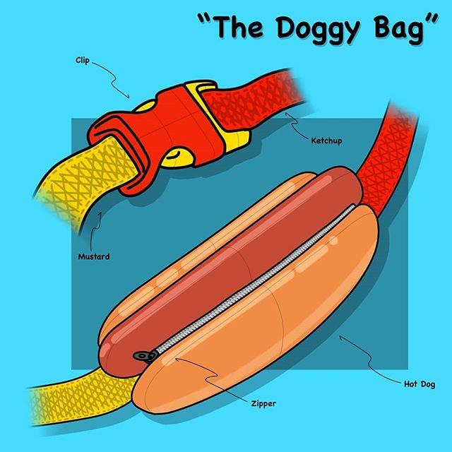 A doggy bag for this week's design challenge from @weeklydesignchallenge design a fanny pack. 🌭🌭🌭 . . . . . . #weeklydesignchallenge #design #idsketch #industrialdesign #fannypack #bumbag #hotdog #hotdogbag #doggybag #studentdesign #idstudent #sketch #secondchancechallenge