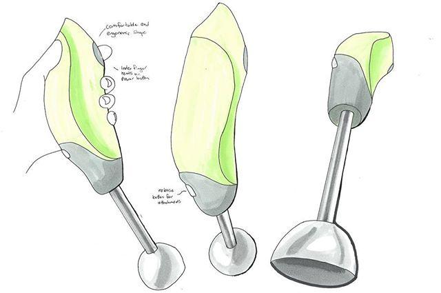 Organic stick mixer design concept . . . . . #organic #design #concept #industrialdesign #copic #markers #pen #drawing #render #hand #stickmixer #student #studentdesign #designstudent #industrialdesignstudent #shading #university #assignment