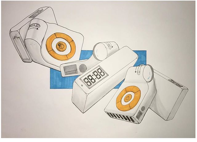 Throw back to a first year assignment designing a pico projector 📽 . . . . .  #industrial #design #designer #student #university #drawing #designdrawing #industrialdesign #copic #projector #pico #draw #blue #orange #render #markers #throwback #assignment #productdesign #idsketch #iddrawing