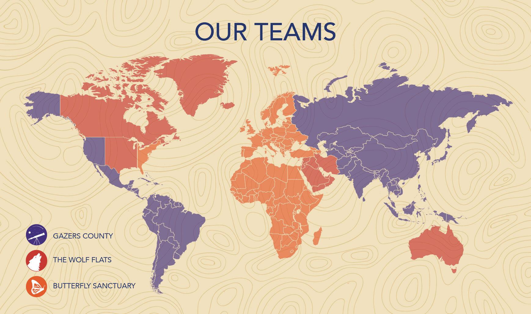 Current Team Map, October 2019