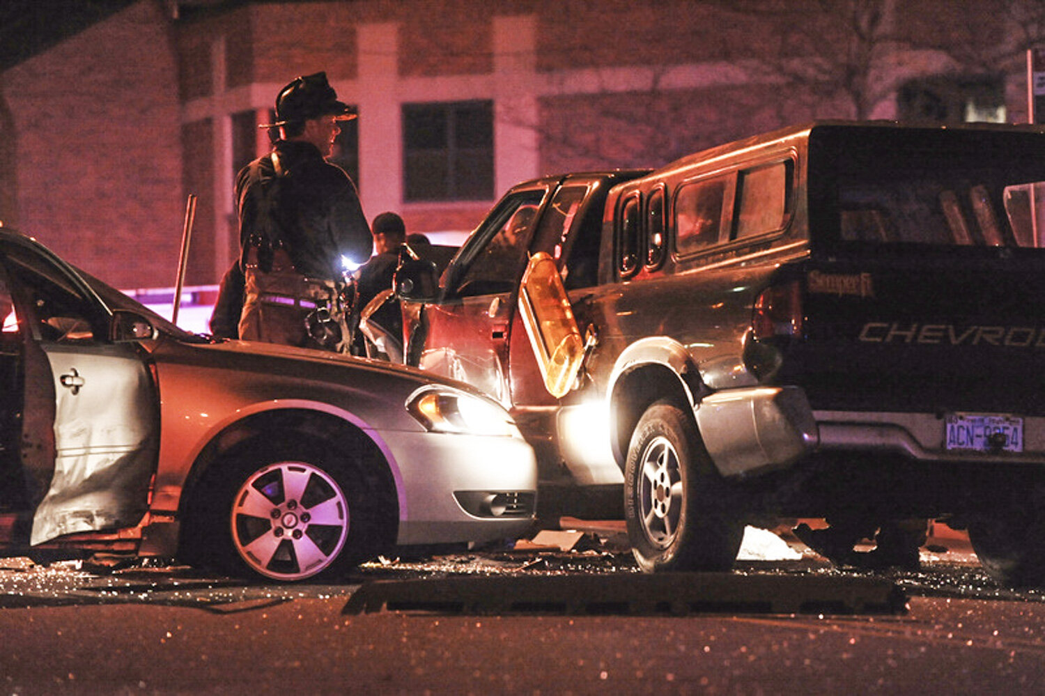 A robbery suspect led Town of Amherst Police on a high speed chase into the City of Buffalo before crashing his car into two other vehicles at the corner of Best and Jefferson Streets in Buffalo.