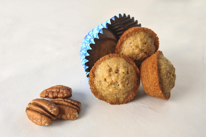 Pecan mini muffins for the CERT cookbook.
