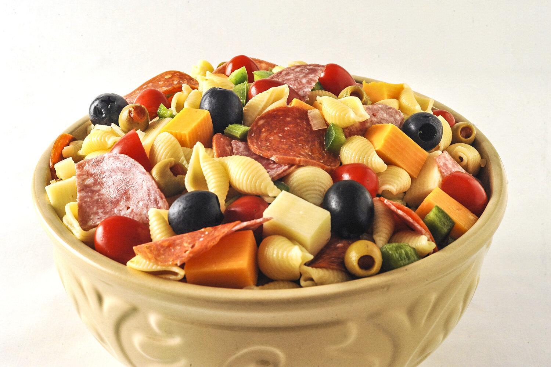 Pasta salad for the CERT cookbook.