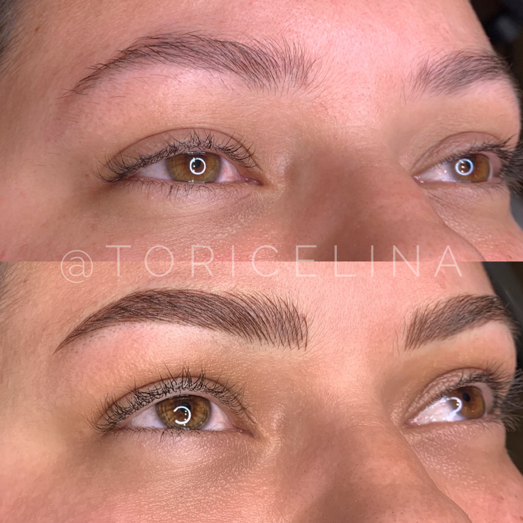 BEFORE AND AFTER COMBO BROWS