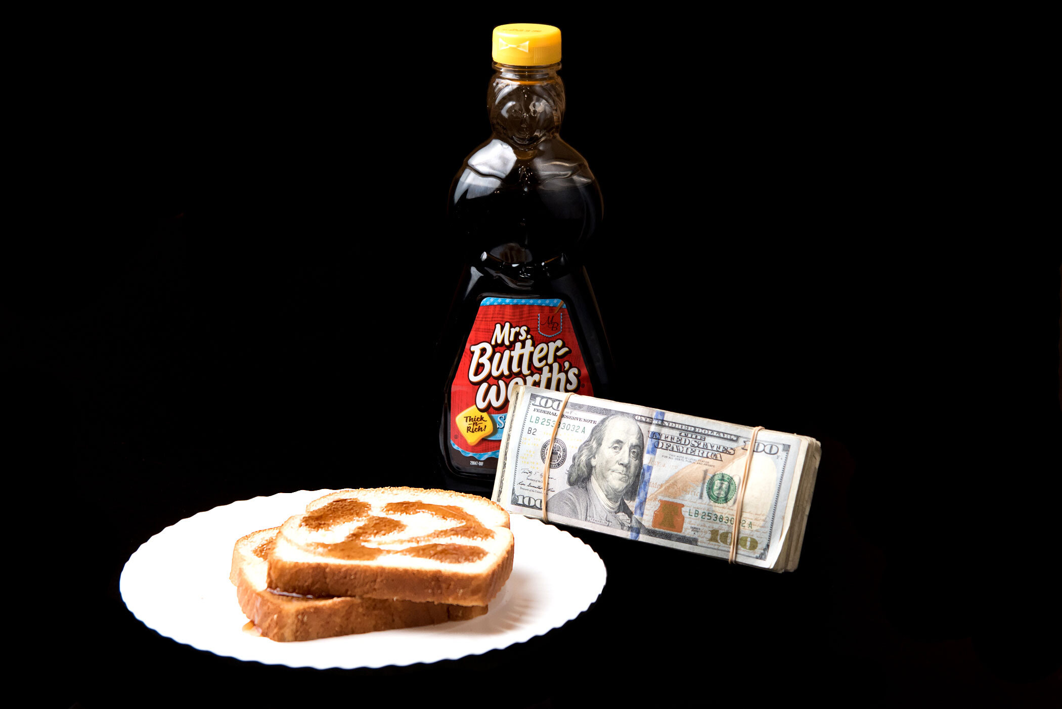 """""""Ayy, I remember syrup sandwiches and crime allowances, Finesse a nigga with some counterfeits, but now I'm countin' this"""" - Kendrick Lamar, """"HUMBLE."""""""