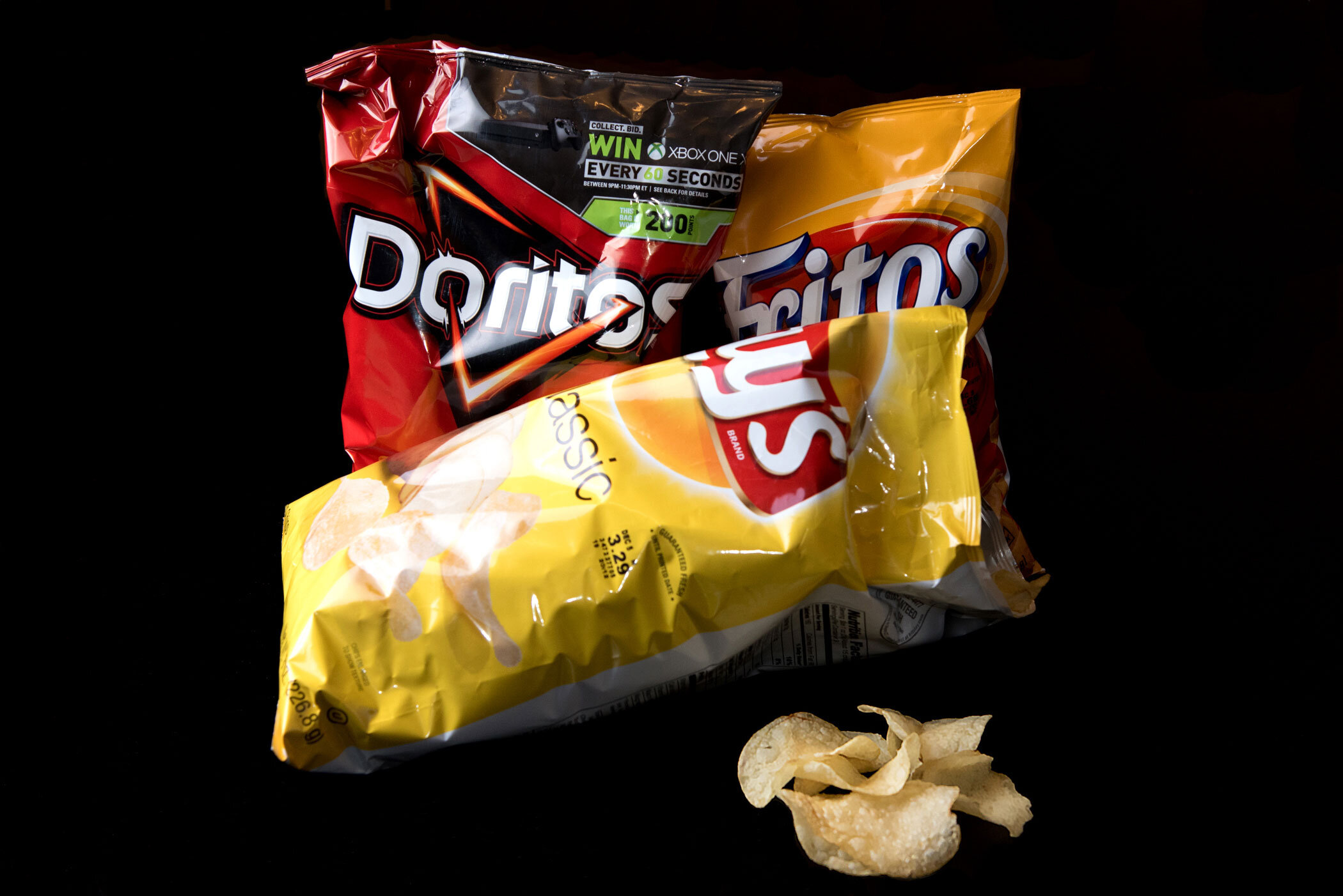"""""""Tell her, """"Girl, like Doritos, that's nacho cheese."""" Tell her friends, """"Like Fritos, I'm tryin' to lay."""" I can't only have one and I ain't tryin' to wait"""" - Kanye West, """"Lollipop (Remix)"""""""