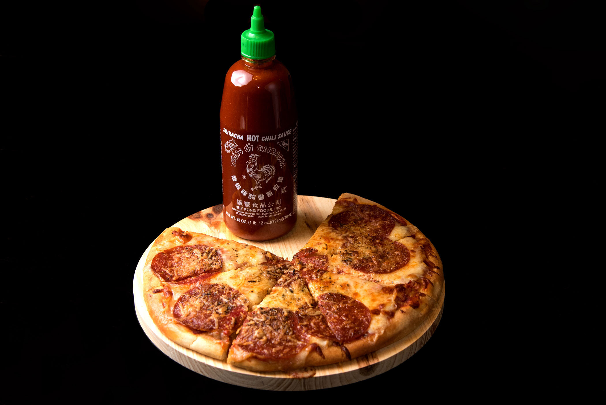 """""""It's just me and la cucaracha tonight, Cold pizza with hot sriracha"""" - Chance The Rapper, """"I Am Very Very Lonely"""""""