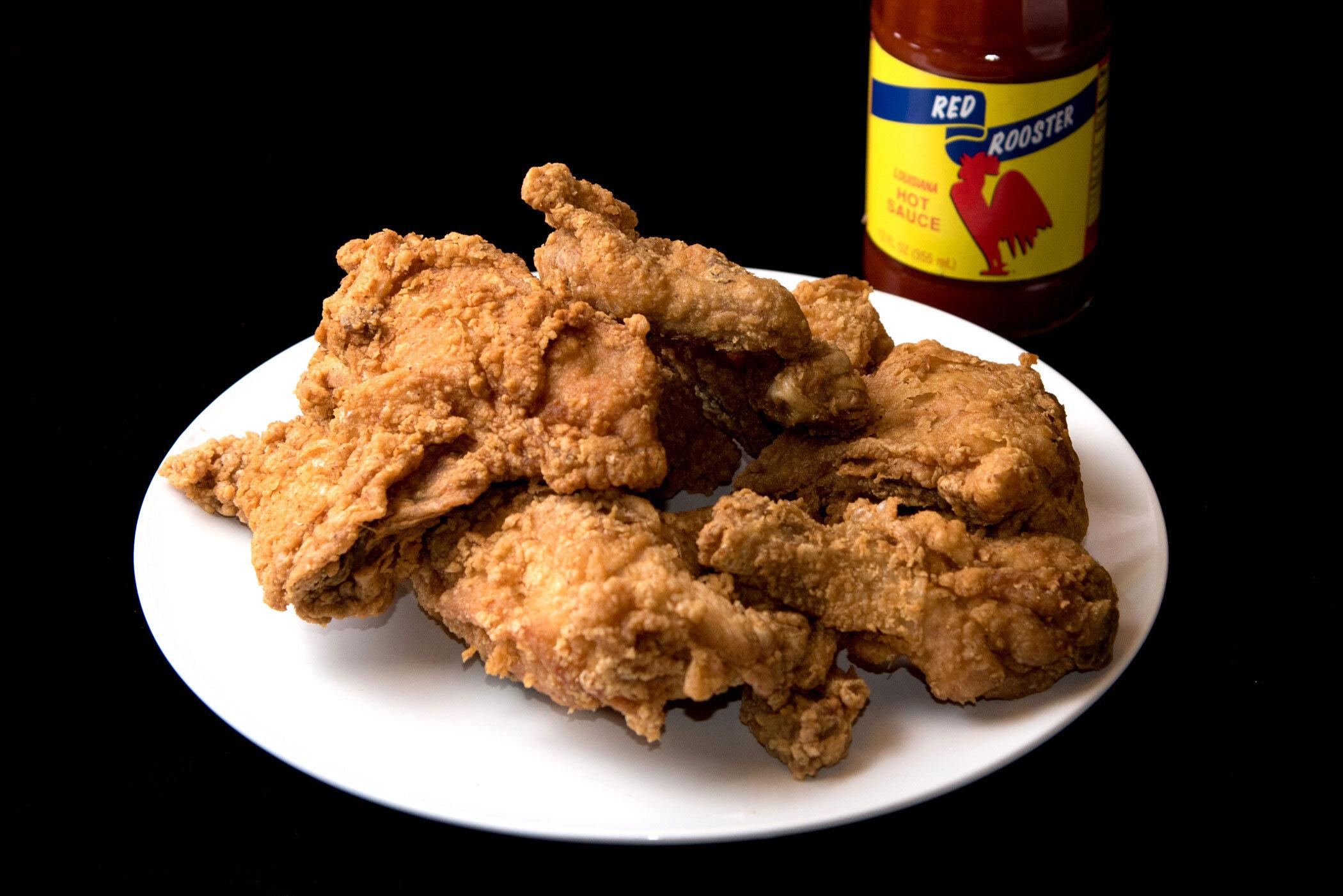 """""""Chicken for lunch, chicken for my dinner, Chicken, chicken, chicken, I'm a finger lickin' winner"""" - Q-Tip, """"Ham 'N' Eggs"""""""