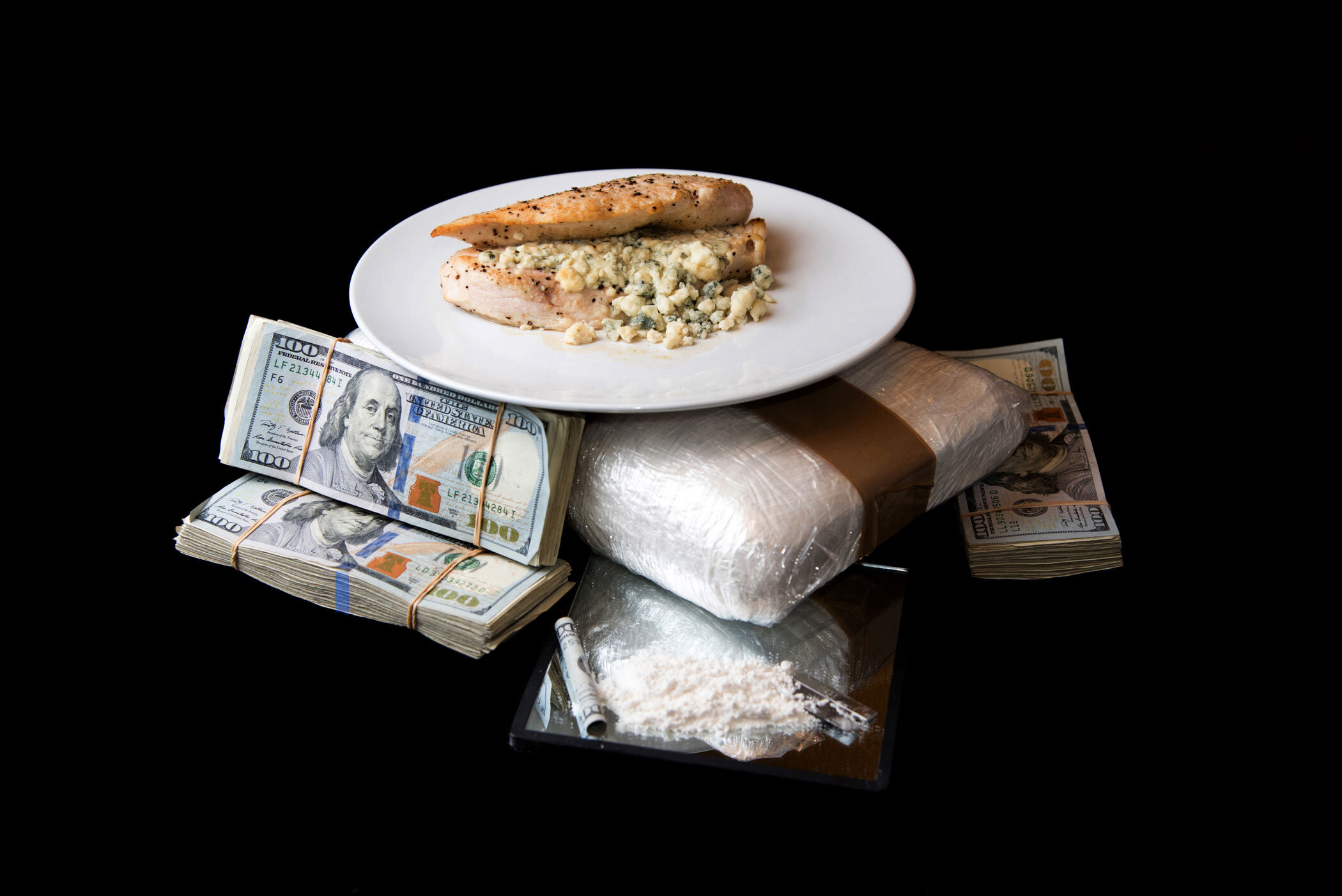 """""""Countin' that paper like loose leaf, yeah, Gettin' that chicken with bleu cheese, yeah"""" - Lil Uzi Vert, """"Bad and Boujee"""""""