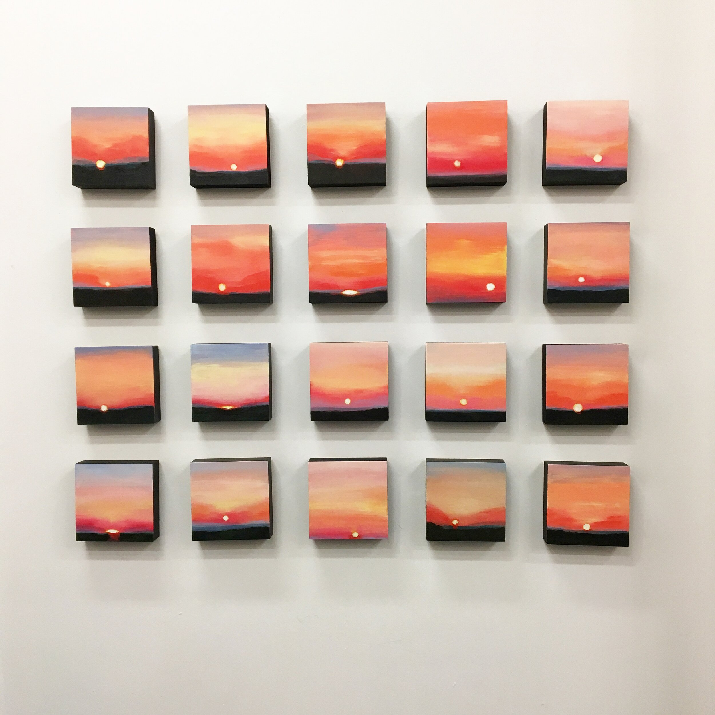 As you Leave #1-20 (installation view)
