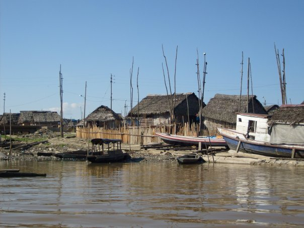 The Belen district of Iquitos often floods when the river is high, thus many of the buildings are on stilts.