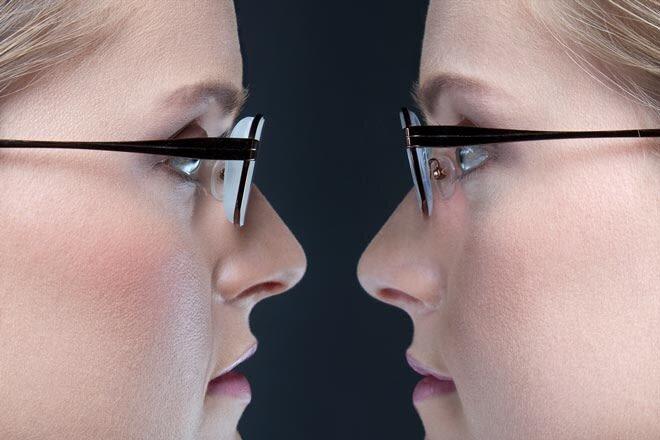 Standard lens  High Index lens