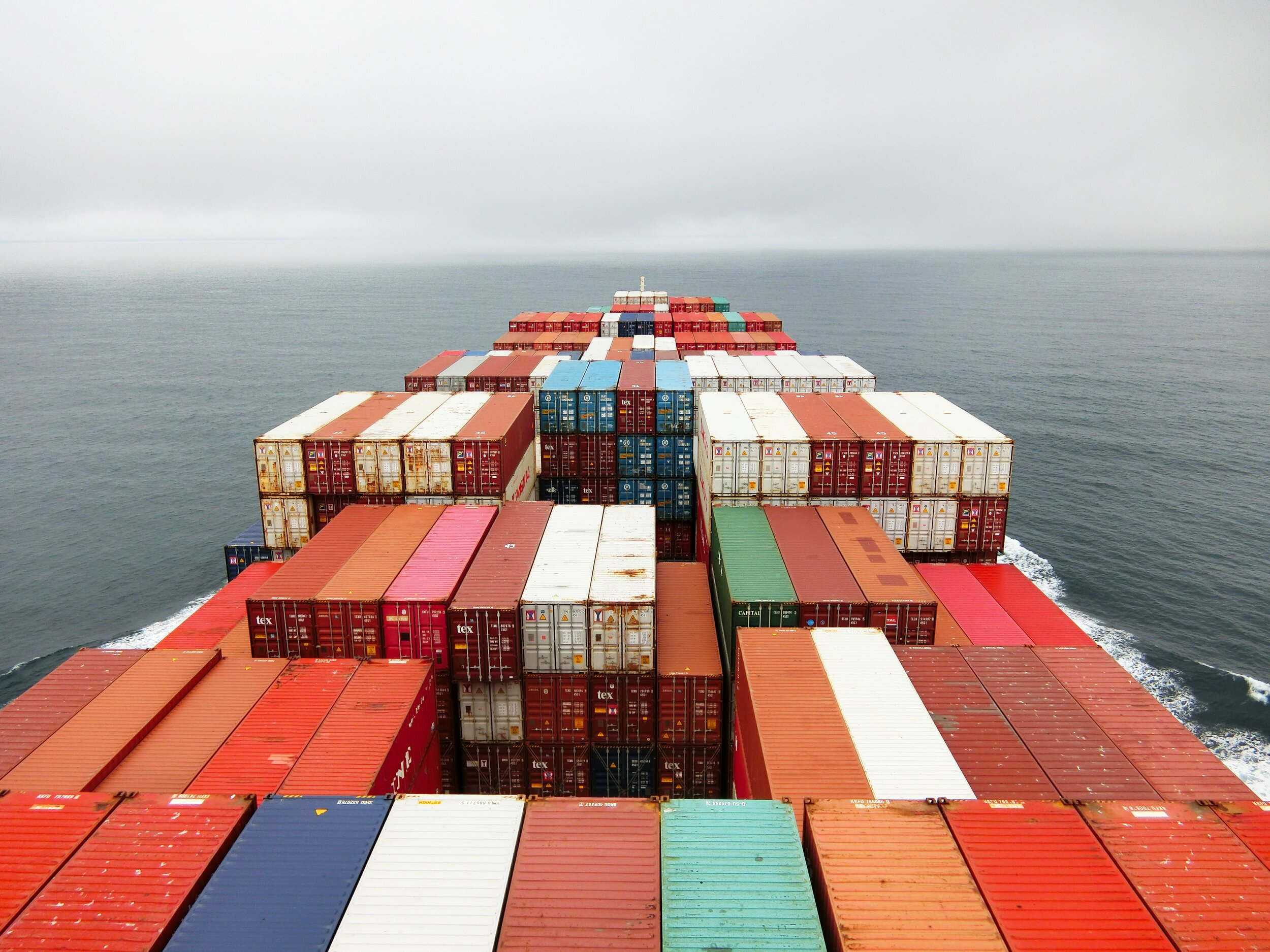 ship of cargo containers