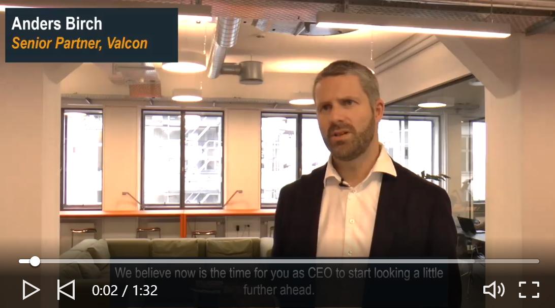 Screenshot of video of a man talking