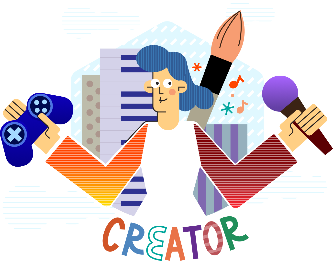 The Future of Creator Support. - Enabling a new class of digitalcelebrity to make a living by changinghow value is exchanged betweencreators and their fans.———